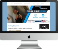 Web Design Project Cowley Electrical Contractors - Desktop View