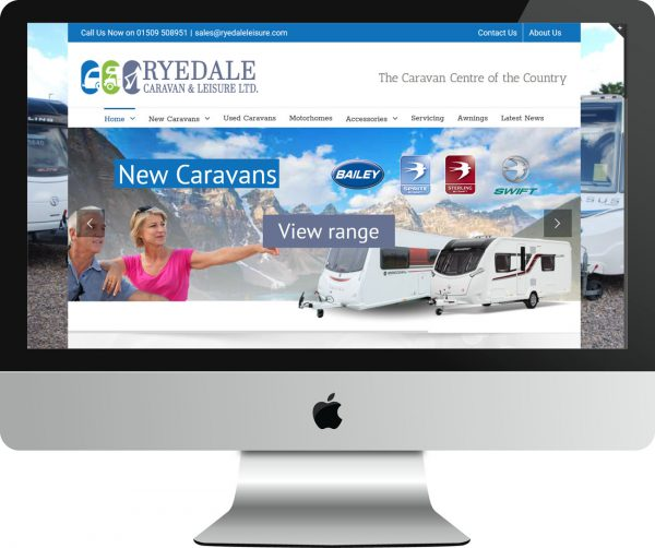 Web Design Project Ryedale Caravan and Leisure - Desktop View